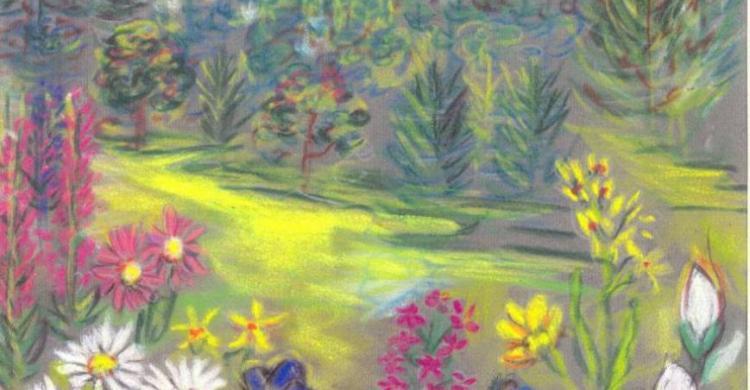 Lisette BLANC - Chartreuse Pinea Fleur Pastel