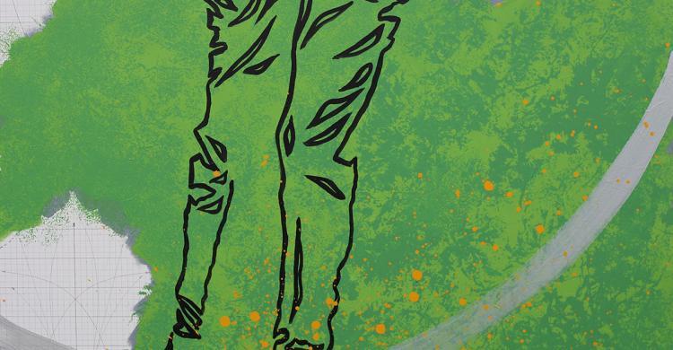 Patrick MALAUREILLE - Jaune sur vert